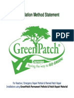GreenPatch Pothole Repair Material Method Statement