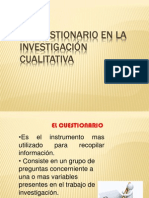 El Cuestionario en La Investigación Cualitativa
