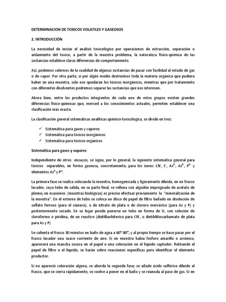 GASES TOXIC 1 Introduccion Objetivos, Materiales