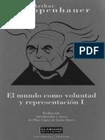 El Mundo Como Voluntad y Representacion [Schopenhauer]