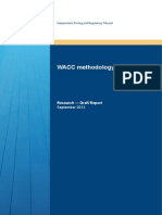 Draft Report WACC Methodology