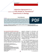 Intersubjective agreement in quantum-like experiment in biology