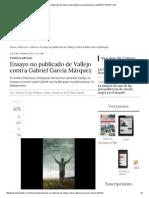 Ensayo No Publicado de Vallejo Contra Gabriel García Márquez _ ELESPECTADOR
