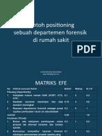 Contoh Positioning Sebuah Pelayanan Forensik
