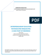 Entrepreneurship Education for Resolving Inequalities- A Case Study of Indonesia - Kaneko