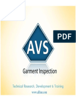 Garment Inspection and stages - AVS