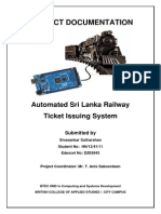 Automated Railway Ticket Issuing System For Sri Lanka