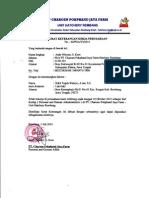 Surat Keterangan Kerja Pokphand