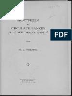 Muntwezen en circulatie-banken in Nederlandsch-Indië / door G. Vissering