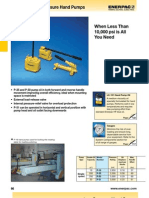 Enerpac P Series Catalog Low Pressure