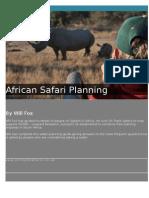 African Safari Planning v3