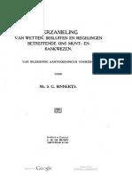 Verzameling van wetten, besluiten en regelingen betreffende ons munt- en bankwezen / van inleidende aanteekeningen voorzien door S.G. Binnerts
