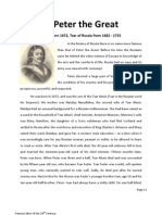 Famous Men-18th Peter the Great