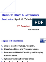 Business Ethics - Lecture 1