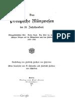 Das Preussische Münzwesen im 18. Jahrhundert. Münzgeschichtlicher Teil. Bd. III