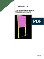 Laporan Perhitungan Papan Nama Proyek PDF
