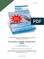 Pass1stTime.com ACCA Essential Exam Report