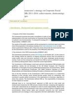 European Comission CSR Survey Respon.cat 2014