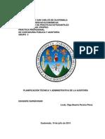 Planificación Tecnica y Administrativa de Auditoria