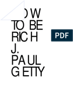 J. Paul Getty - How to Be Rich