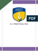 C ++ Practical File