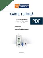 Carte Tehnica ELECTRA