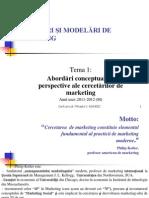 Marketing - Cercetari de Piata - Tema 1 - Abordări Conceptuale Şi Perspective Ale Cercetărilor de Marketing