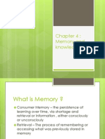 Consumer Behavior - Memory and Knowledge