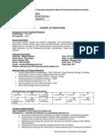syllabus - dual enrollment intro to the teaching profession syllabus