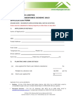 Plant Loan Scheme Application Form 2013