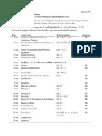 BIOL 201 Lecture Schedule 2014