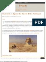 Napoleón en Egipto_ La Batalla de Las Pirámides