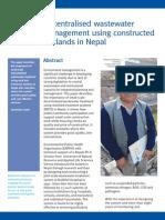 Decentralised Waste Water Management Constructed Wetlands Nepal