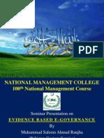 Evidence Based E-Governance