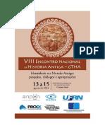 VIII Encontro Nacional de História Antiga GTHA - Caderno de Resumos