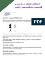Bustos y corpóreos para tiendas, venta online con precios económicos.pdf