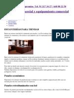 Estanterías para tiendas. Madera, metálicas.pdf