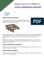 Mesas para tiendas de ropa, mesas para zapaterías, mesas en comercios.pdf