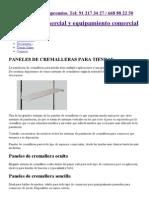 Paneles de cremalleras para tiendas, Estanterías cremallera comercios.pdf