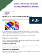 Sistemas de metacrilato para tiendas. Espositores, urnas, vitrinas...pdf