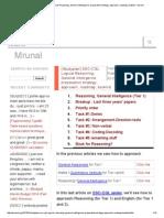 [Studyplan] SSC-CGL Logical Reasoning, General Intelligence_ Preparation Strategy, Approach, Roadmap, Booklist - Mrunal