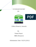 77426284 MCB Internship Report by Faisal Hayat