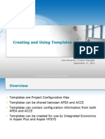 Creating and Using Templates