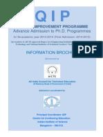 IISC QIP Brochure PhD