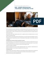Zygmunt Bauman Sobre Desigualdad Democracia y Politicos La Politica Ya No Tiene Poder