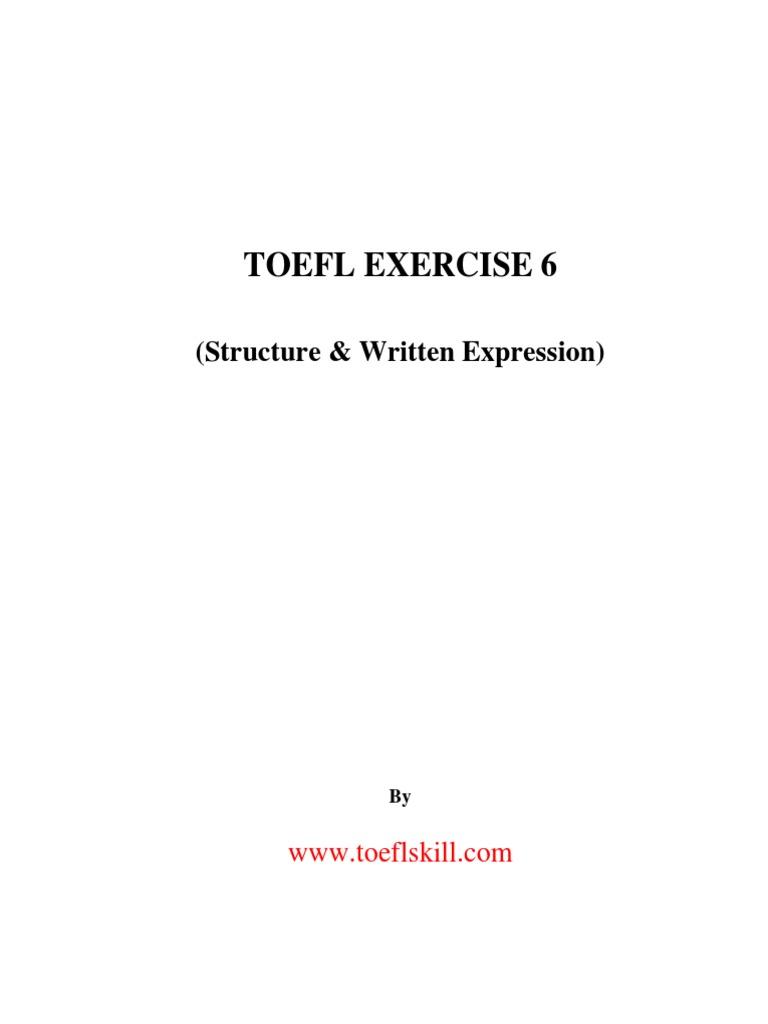 picture regarding Toefl Exercises Printable referred to as TOEFL Physical fitness 6 Frasa Kalimat (Linguistik)