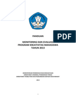 Panduan Monev PKM 2013