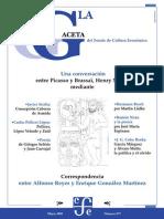 La Gaceta - Mayo 2002 - Una Conversación Entre Picasso y Brassai, Henry Miller Mediante