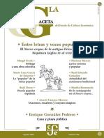 La Gaceta - Agosto 2003 - Entre Letras y Voces Populares Hispanicas (Siglo XV Al XVII)