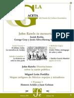 La Gaceta - Febrero 2003 - John Rawls in Memoria